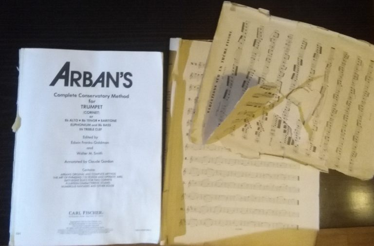 my arban's trumpet method book