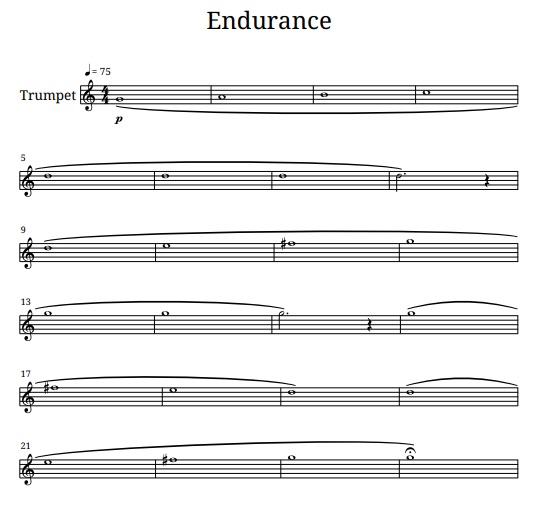 trumpet endurance exercise