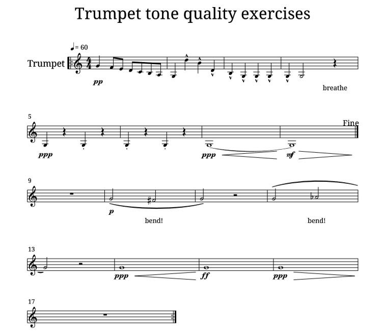 trumpet tone quality exercises