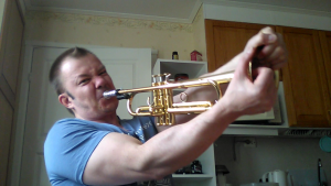 playing trumpet wihout pressure