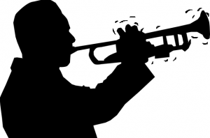 A man has shaky tone on the trumpet