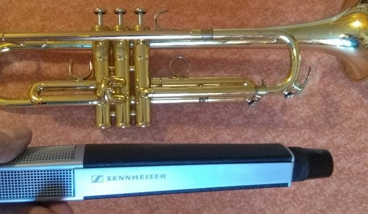 Sennheiser MD 441 U Mic for recording trumpet