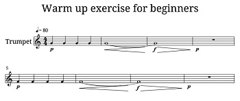 trumpet exercise for warming up