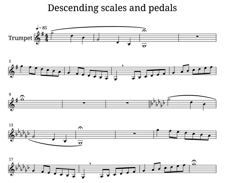 Trumpet warm up exercise pdf