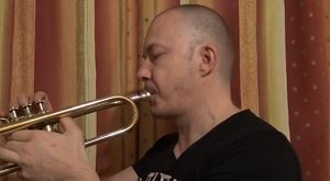 Robert is play testing good student trumpets