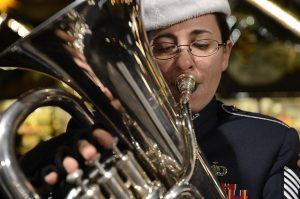 A euphonium horn