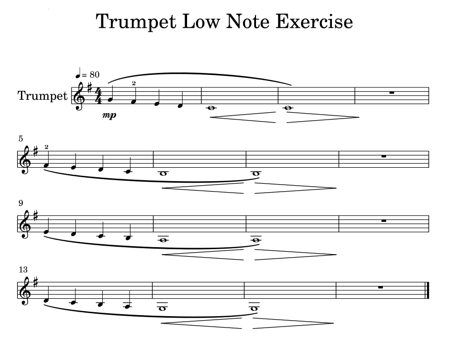 trumpet low note exercise